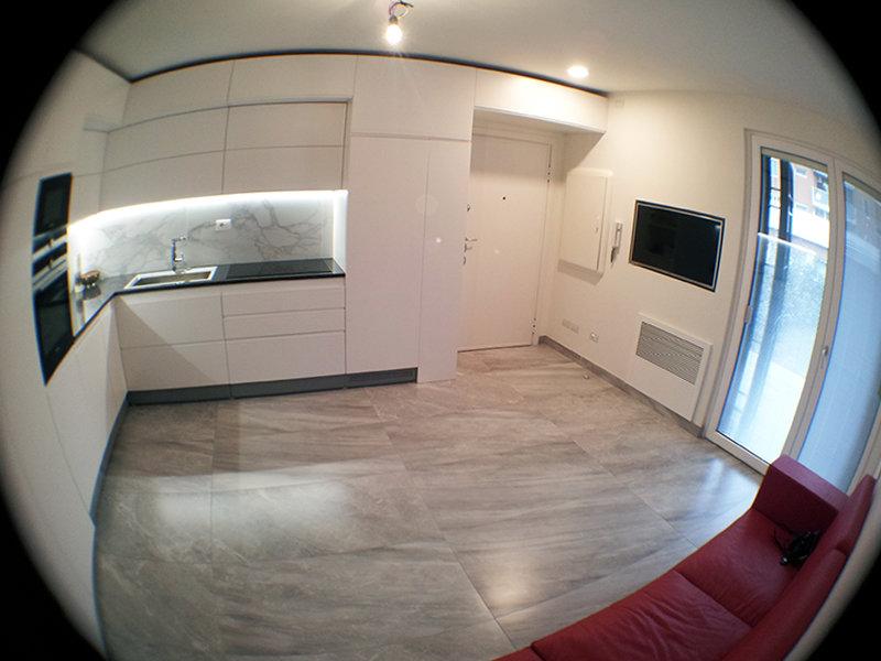 Progetto di cucina su misura milano - Cucina piu soggiorno ...