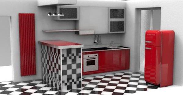 Cucina su misura vintage milano progetti di interni - Cucina americana milano ...