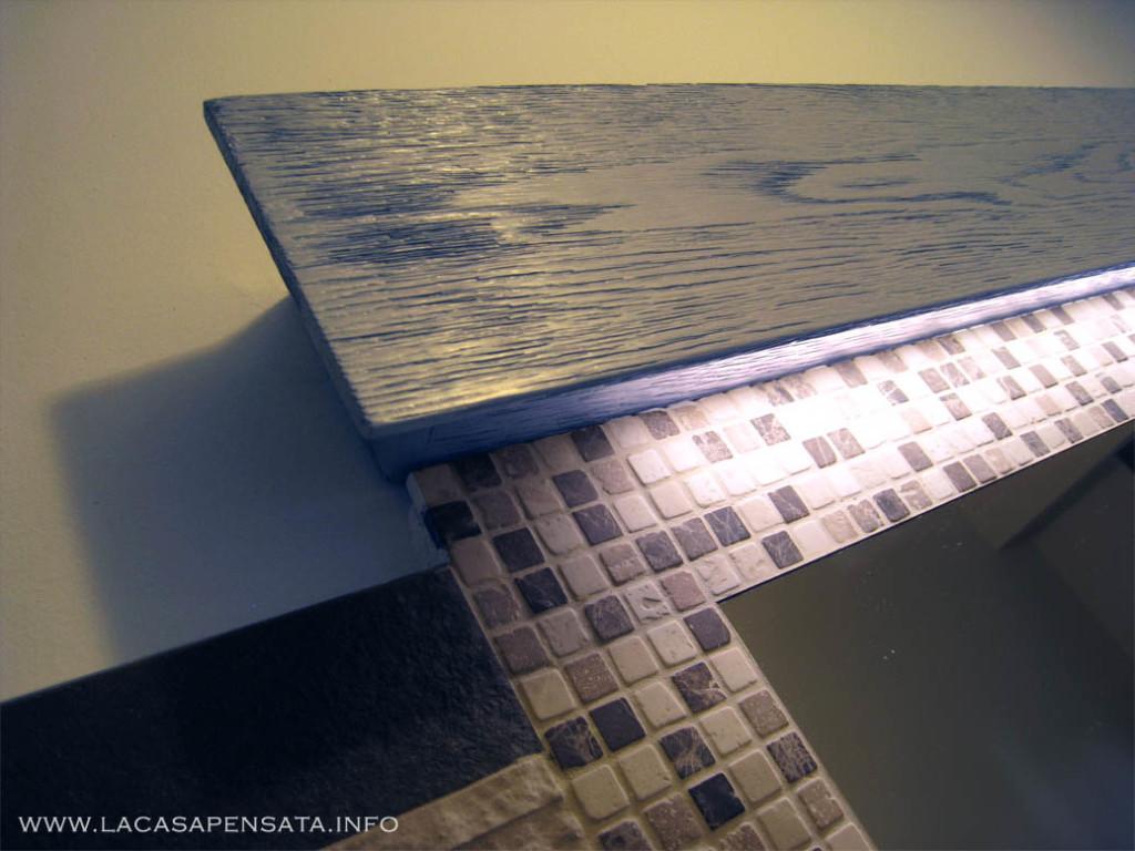 Come arredare la cucina in arte povera - Lampada led per specchio bagno ...