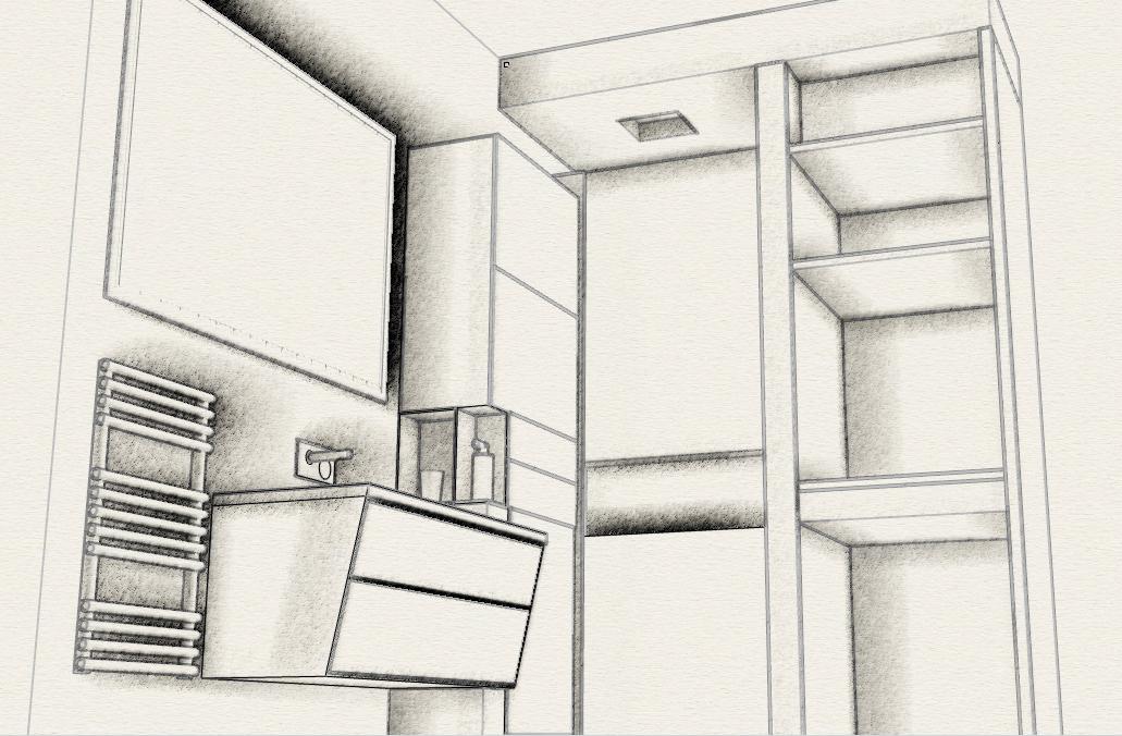 Progetto bagno piccolo progetti di interni - Progetto bagno paderno ...