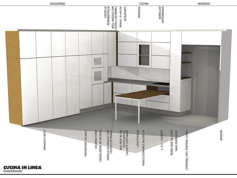 Progetto cucina milano progetti di interni - Quanto costa cucina ikea ...
