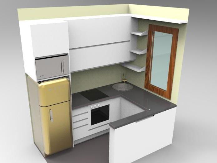 Progetto di cucina su misura milano - Lavello cucina angolare ...