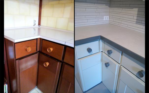 Sostituire il top e riformare la cucina progetti di interni - Dipingere ante cucina ...