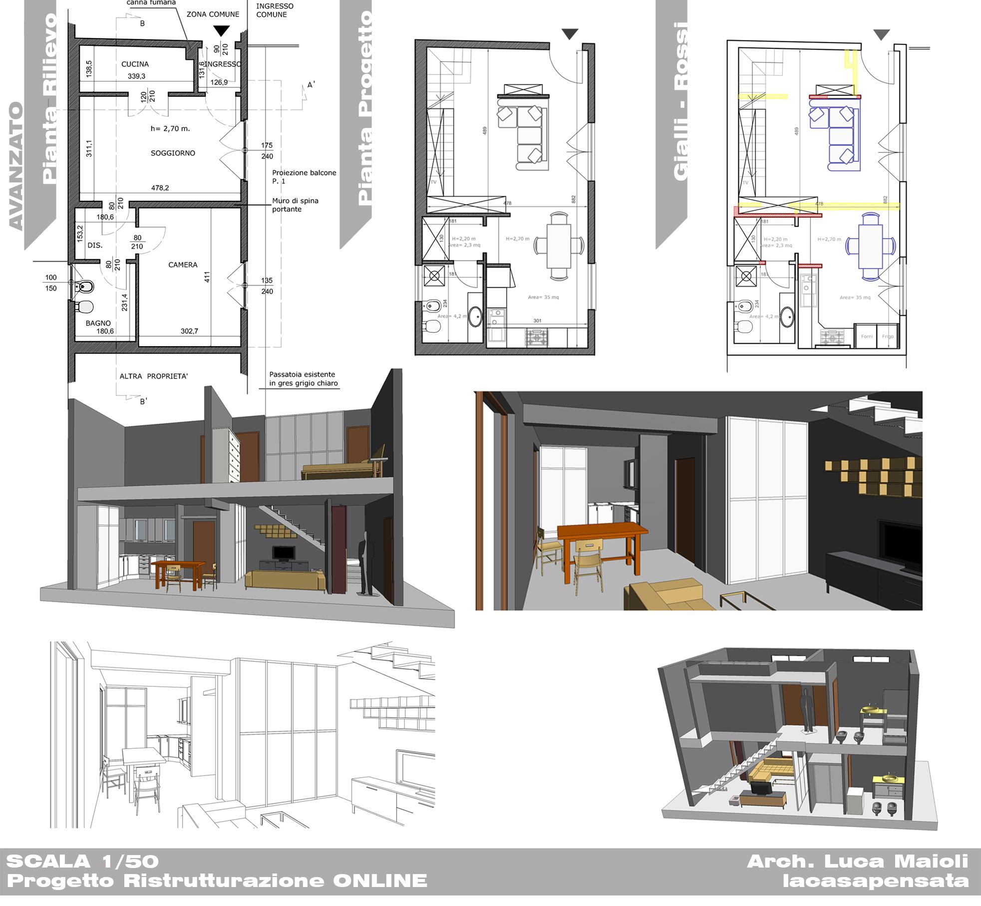 Progetto arredamento online progetti di interni for Progetto arredo casa on line