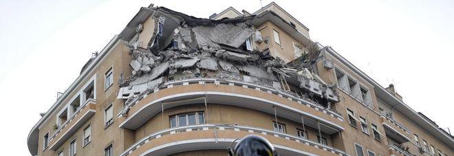 Crollo palazzina roma