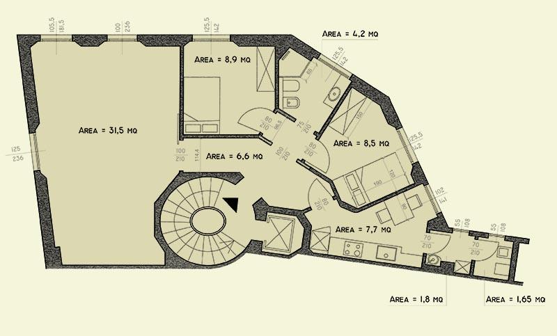 progetto distribuzione spazi interni