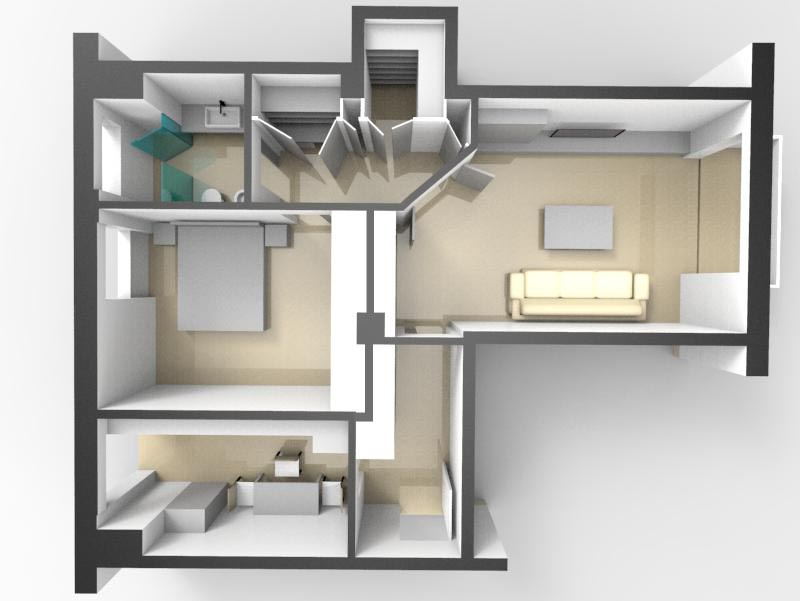 Progetto distribuzione spazi interni progetti di interni for Progetti interni case