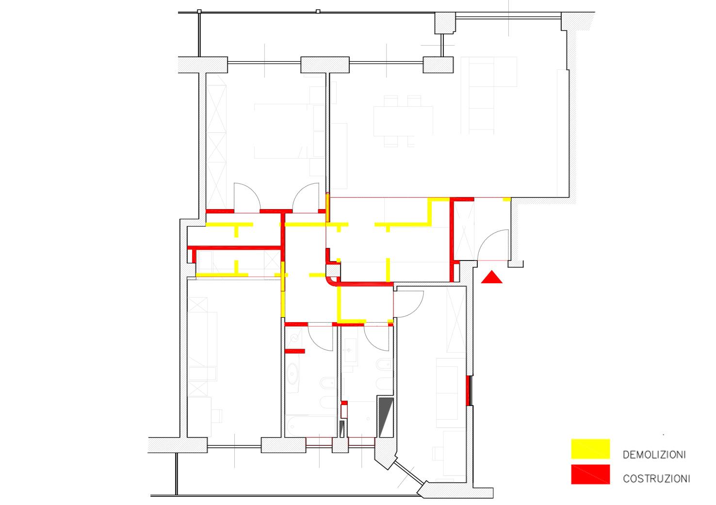 Cambio planimetria appartamento