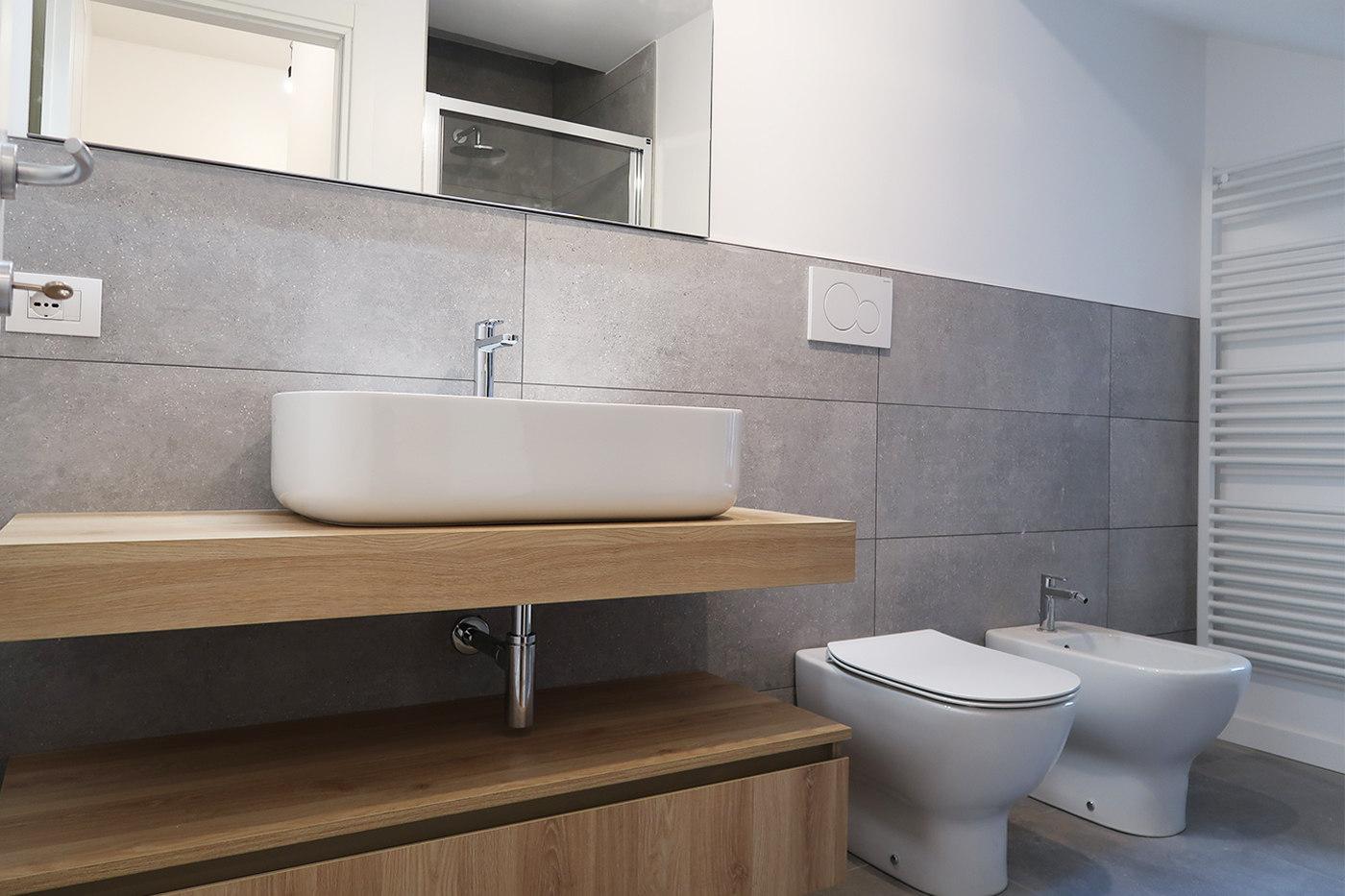 Restyling di una vecchia casa - stanza bagno