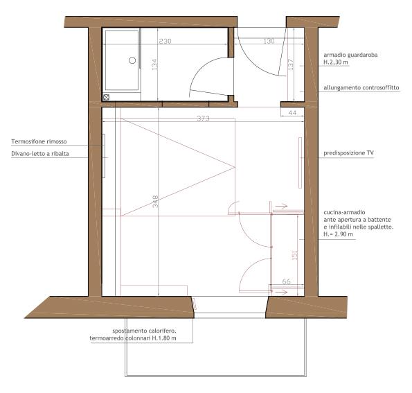 Ristrutturazione interni progetti di interni for Arredamento per monolocale
