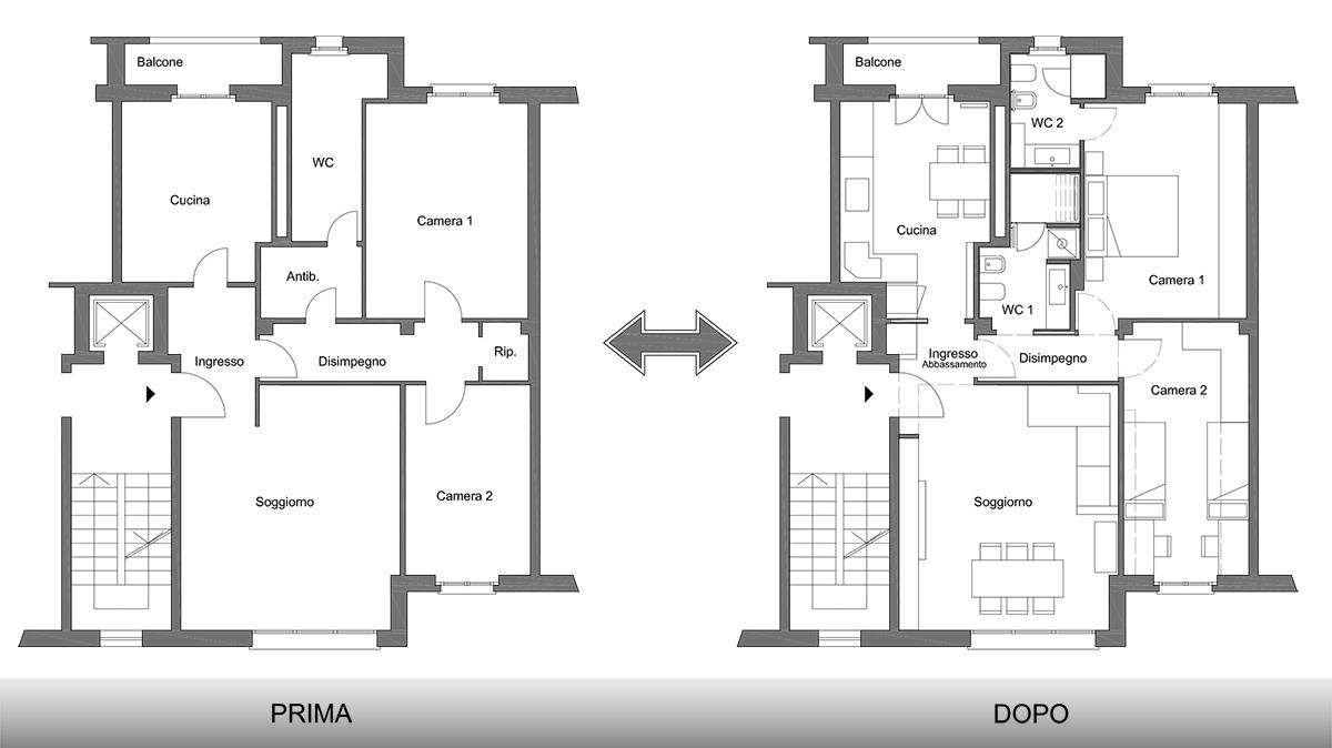 Impresa edile milano progetti di interni - Parcella architetto per ristrutturazione ...