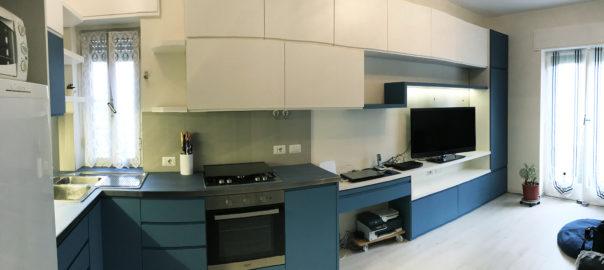 parete attrezzata con cucina