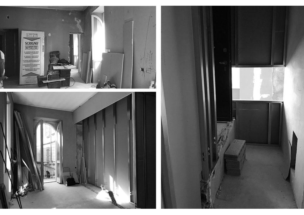 restyling di una vecchia casa fase di cantiere