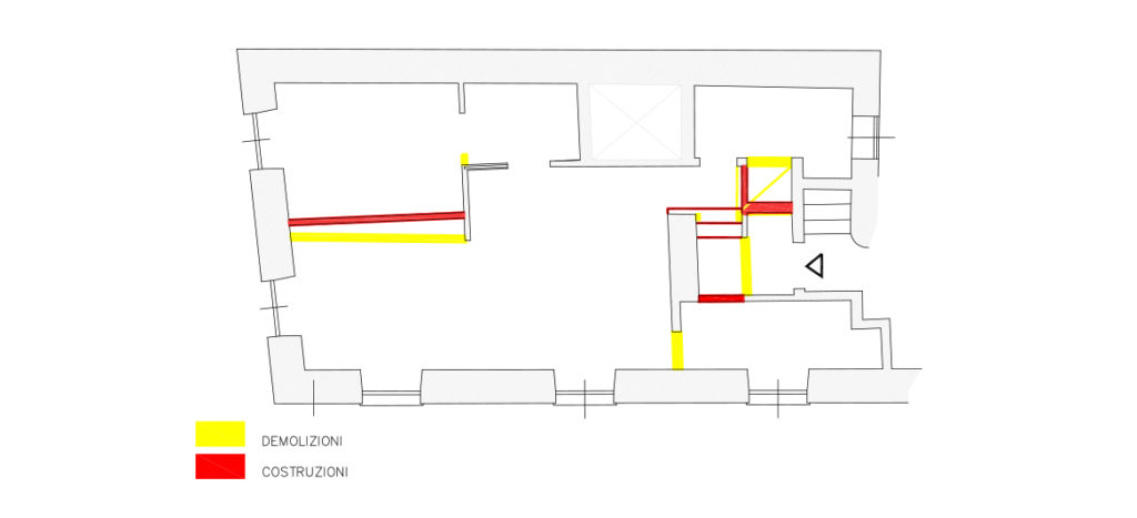restyling di una vecchia casa: nuova distribuzione interna